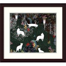 Cat Heaven Framed Painting Print