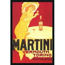 Martini - Vermouth Torino Framed Vintage Advertisement