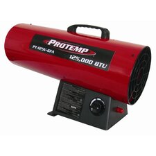 125,000 BTU Portable Propane Forced Air Utility Heater with Variable Control