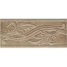 "Ash Creek 9"" x 4"" Glazed Ceramic Flora Accent Tile in Walnut (Set of 3)"