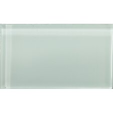 "Lucente 3"" x 6"" Glass Field Tile in Crystalline"