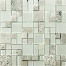 Lucente Random Sized Glass Mosaic Tile in Lazzaro