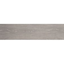 "Alpine Foam 6"" x 36"" Porcelain Wood Tile in Gray"