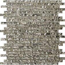 Vista Arte Glass Splitface Tile in Silver