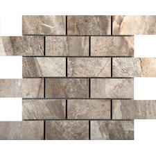 "Eurasia 2"" x 4"" Porcelain Mosaic Tile in Grigio"