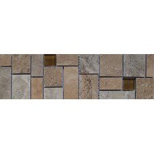 "Lucerne 13"" x 4"" Floor Listello in Multicolor"