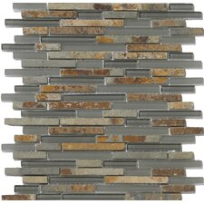 Lucente Random Sized Stone and Glass Mosaic Tile in Romano
