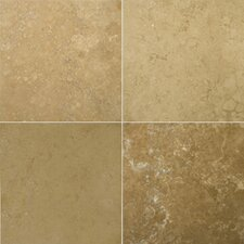 "Natural Stone 12"" x 12"" Travertine Field Tile in Noce Classic"