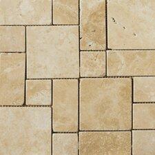 Natural Stone Random Sized Travertine Mosaic Tile in Beige