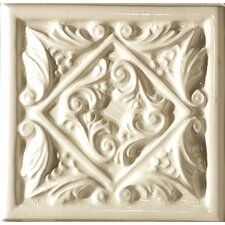 "Cape Cod 6"" x 6"" Seashore Accent Tile in Artisan Cream Crackle"