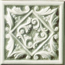"Cape Cod 6"" x 6"" Seashore Accent Tile in Willow Green Crackle"