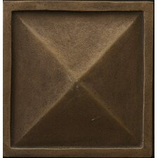"Renaissance 4"" x 4"" Capri Accent Tile in Antique Bronze"