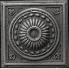 "Renaissance 4"" x 4"" Pompei Accent Tile in Antique Nickel"