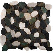 Rivera Random Sized Natural Stone Pebbles Tile in Spring