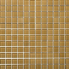 "Lucente 1"" x 1"" Glass Mosaic Tile in Honey"