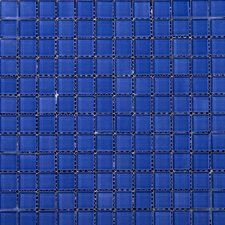 "Lucente 1"" x 1"" Glass Mosaic Tile in Azul Royale"