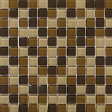 "Lucente 1"" x 1"" Glass Mosaic Tile in Mountain"