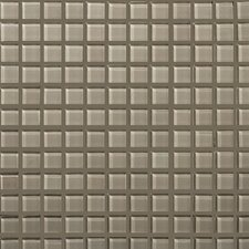 "Lucente 1"" x 1"" Glass Mosaic Tile in Morning Fog"