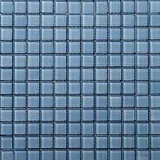 "Lucente 1"" x 1"" Glass Mosaic Tile in Ocean Mist"