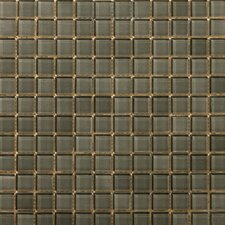 "Lucente 1"" x 1"" Glass Mosaic Tile in Pewter"