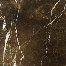 """Natural Stone 12"""" x 12"""" Marble Field Tile in St.Croix Brown"""