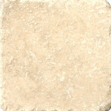 "Natural Stone 4"" x 4"" Travertine Field Tile in Cream"