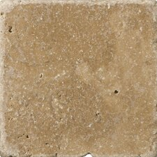 "Natural Stone 6"" x 6"" Travertine Field Tile in Noce"