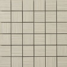 "Strands 2"" x 2"" Porcelain Mosaic Tile in Oyster"