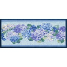 'Blue Hydrangea Bunches' Framed Painting Print