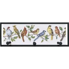 'Bird Perch' Painting Print Plaque with Pegs