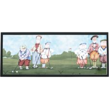 Whimsy Golf Painting Print on Plaque