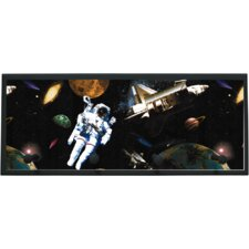 Astronauts in Space Wall Plaque with Wooden Pegs