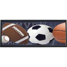 Mixed Sports Ball Framed Graphic Art