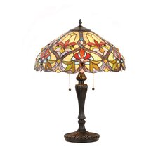 """Victorian Byron 24"""" H Table Lamp with Bowl Shade"""