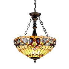 Victorian 3 Light Serenity Inverted Ceiling Pendant