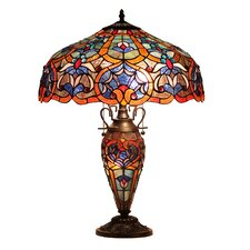 "Sadie 25.4"" H Table Lamp with Bowl Shade"