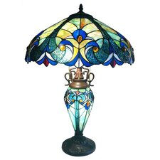 """Tiffany Roosevelt Victorian 26"""" H Table Lamp with Bowl Shade"""