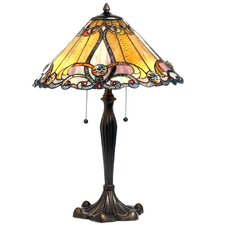 """Tiffany Victorian 26"""" H Table Lamp with Cone Shade"""