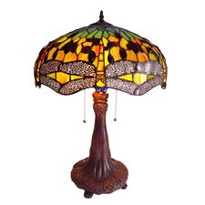 "Dragonfly 26.5"" H Table Lamp with Bowl Shade"