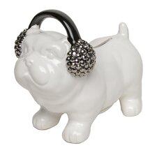 Decorative Dog with Headphones Bank