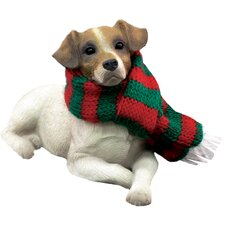 Lying Jack Russell Terrier Christmas Ornament