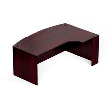 Superior Laminate Bow Front Desk Shell with Corner Extension