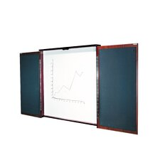 Two Door Presentation Enclosed Whiteboard, 4' x 4'