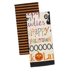Hocus Pocus 2 Piece Happy Halloween Dishtowel Set