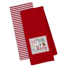 2 Piece Be Merry Dishtowel Set