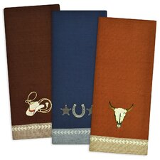 3 Piece Out West Embroidered Dishtowel Set