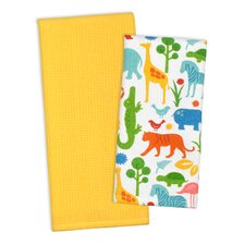 2 Piece Zoo Dishtowel Set