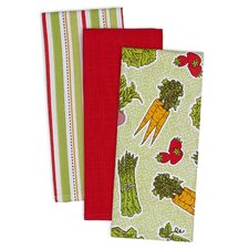 3 Piece Farmers Market Dishtowel Set