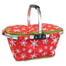 Snowflake Insulated Market Tote