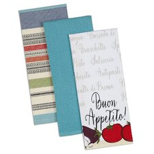 3 Piece Buon Appetito Dishtowel Set